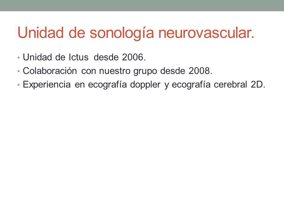 Unidad de sonología neurovascular.