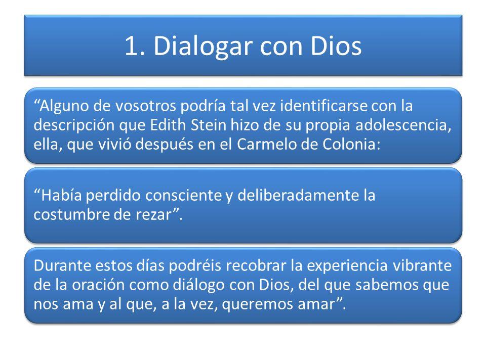 1. Dialogar con Dios