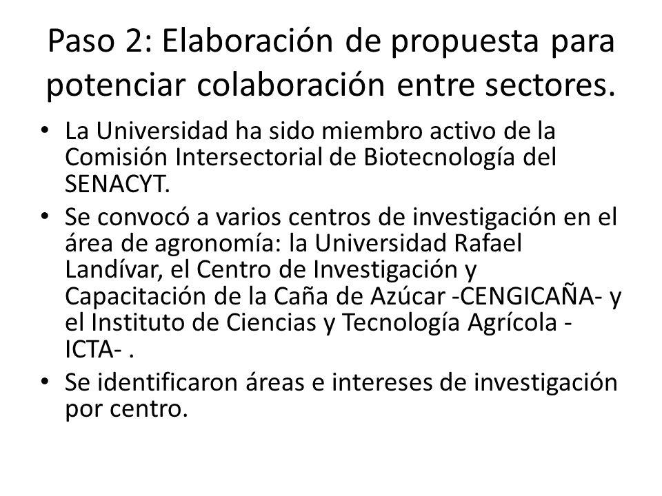 Paso 2: Elaboración de propuesta para potenciar colaboración entre sectores.