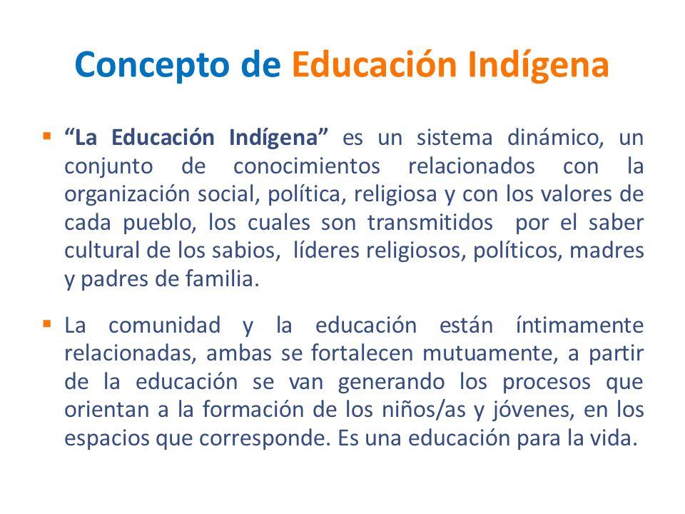 Concepto de Educación Indígena