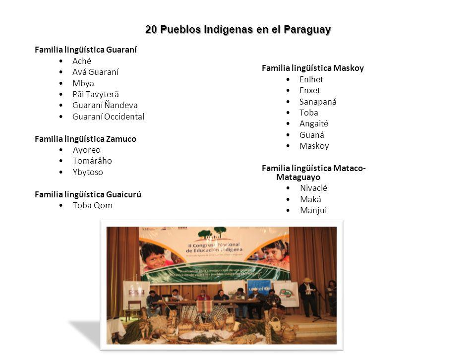 20 Pueblos Indígenas en el Paraguay