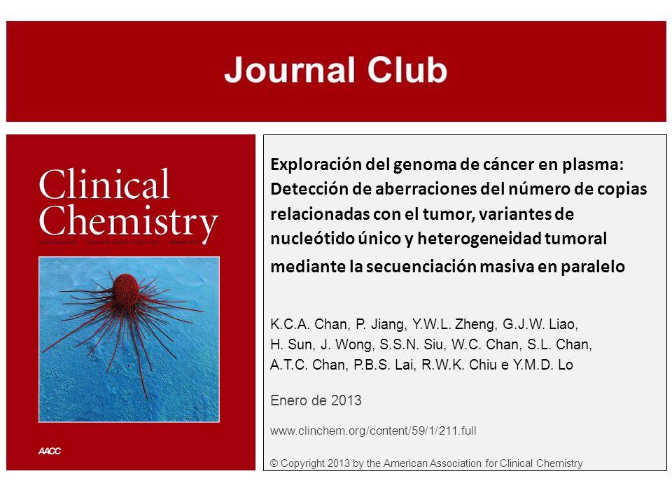 Exploración del genoma de cáncer en plasma: Detección de aberraciones del número de copias relacionadas con el tumor, variantes de nucleótido único y heterogeneidad tumoral mediante la secuenciación masiva en paralelo