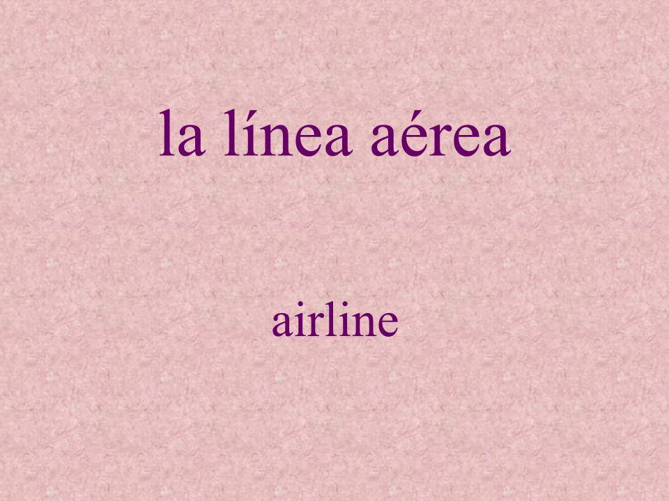la línea aérea airline