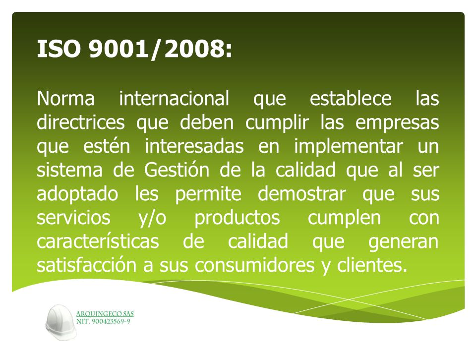ISO 9001/2008: