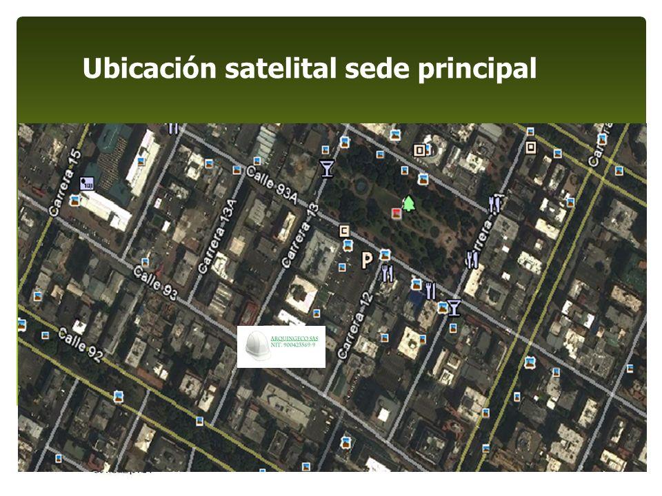 Ubicación satelital sede principal