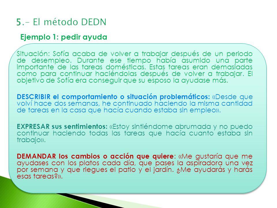 5.- El método DEDN Ejemplo 1: pedir ayuda