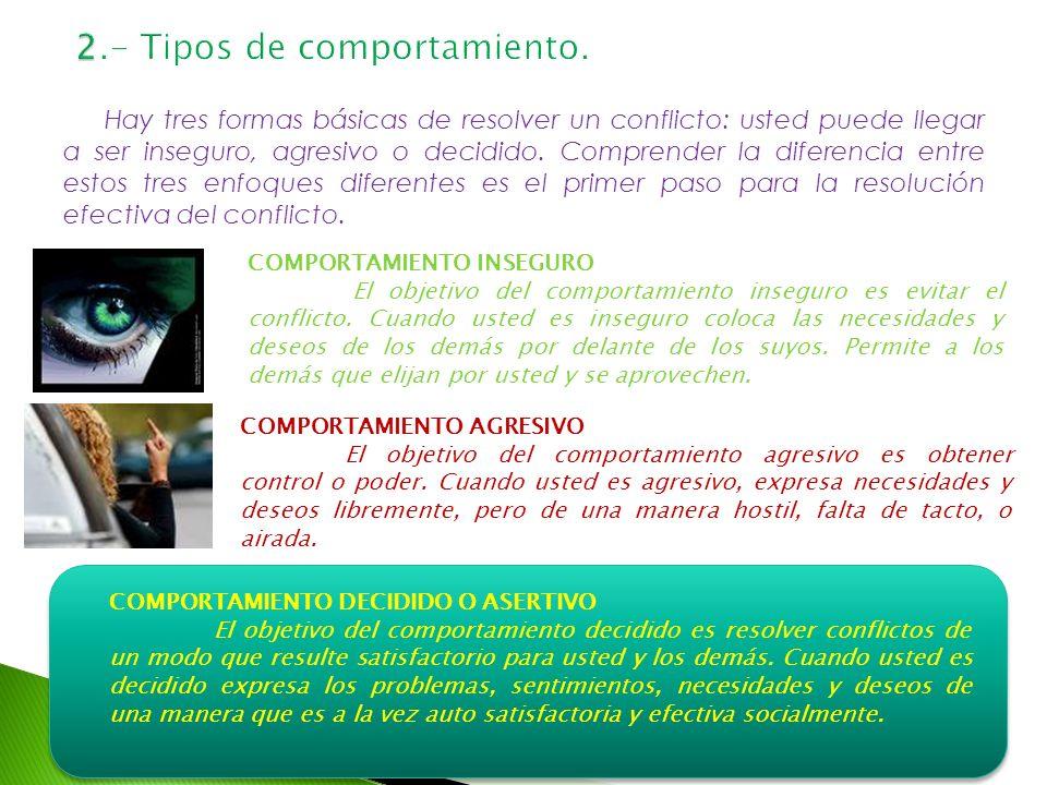 2.- Tipos de comportamiento.