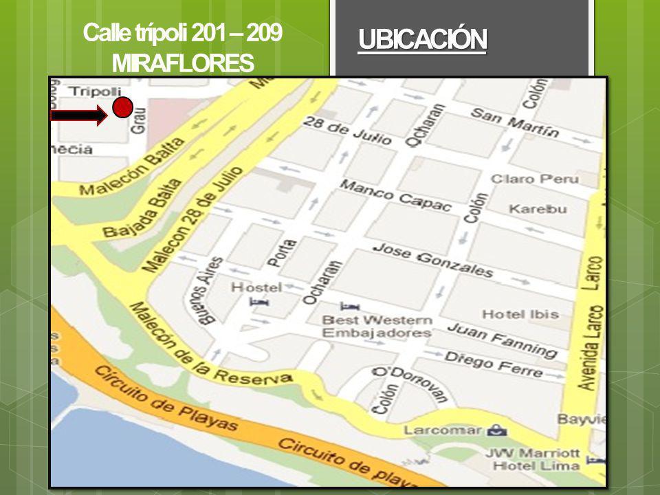 UBICACIÓN Calle trípoli 201 – 209 MIRAFLORES Larcomar