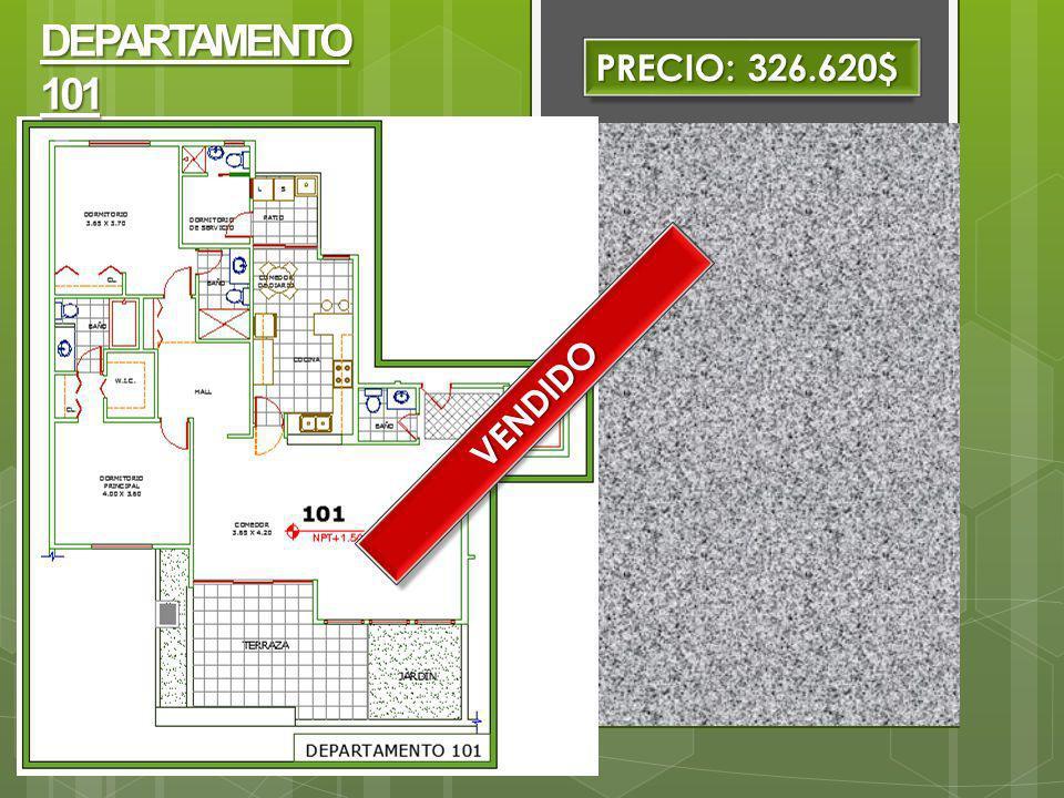 DEPARTAMENTO 101 PRECIO: 326.620$ VENDIDO
