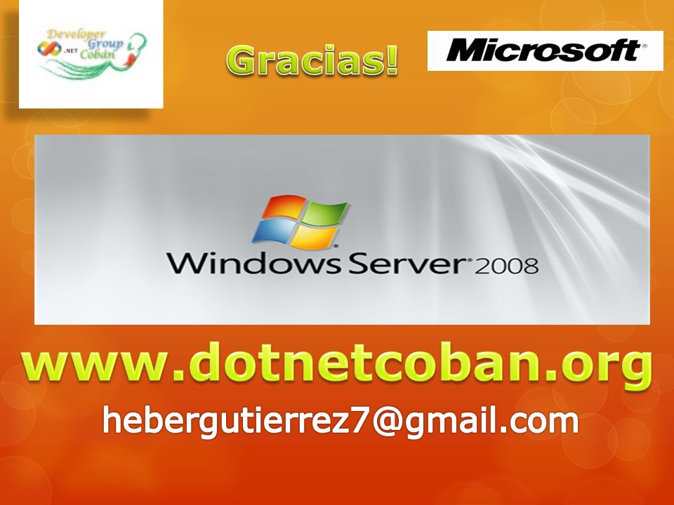 Gracias! www.dotnetcoban.org hebergutierrez7@gmail.com