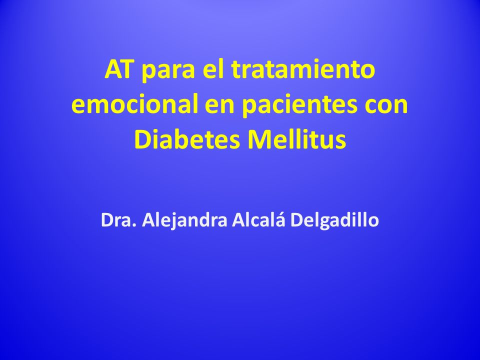 AT para el tratamiento emocional en pacientes con Diabetes Mellitus