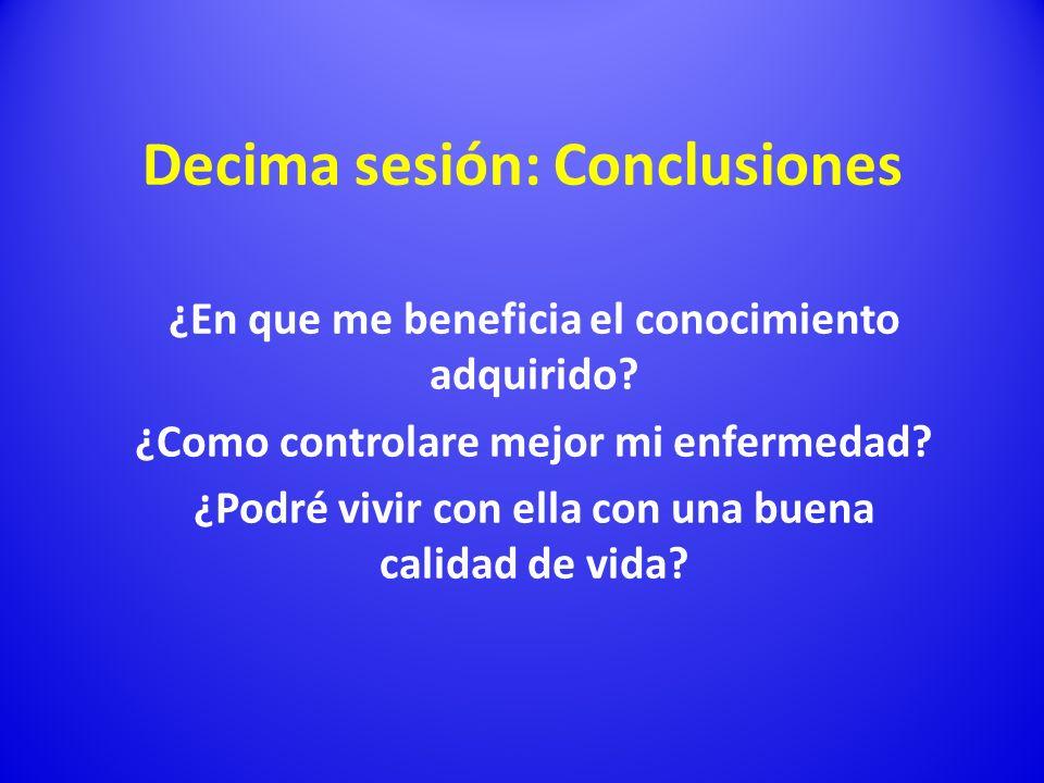 Decima sesión: Conclusiones