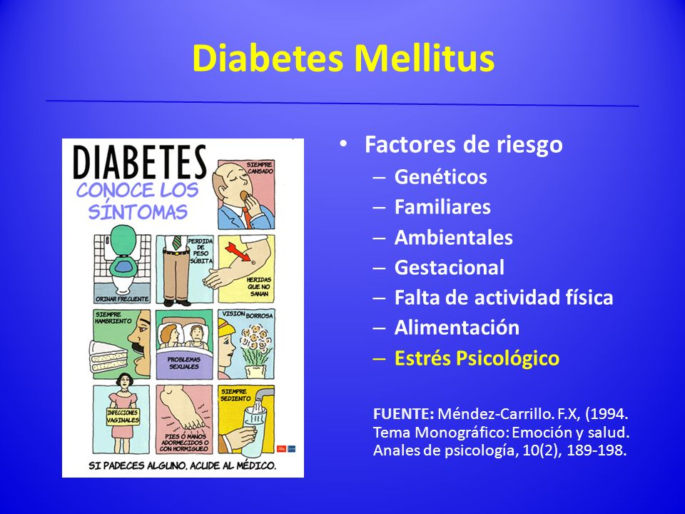 Diabetes Mellitus Factores de riesgo Genéticos Familiares Ambientales