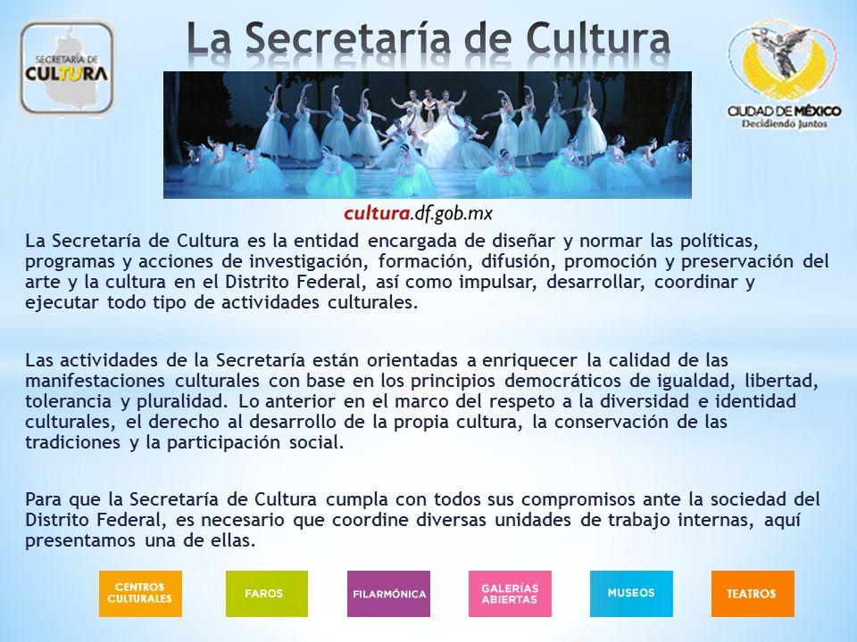 La Secretaría de Cultura