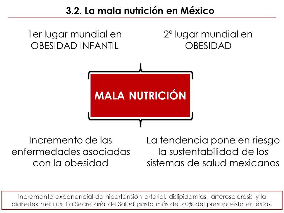 3.2. La mala nutrición en México