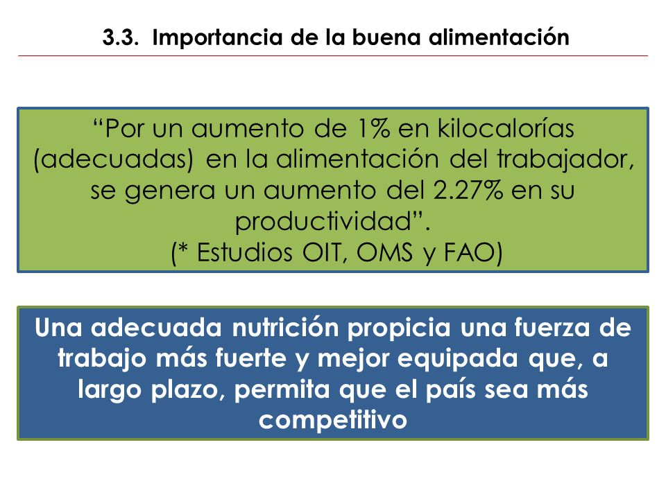 3.3. Importancia de la buena alimentación