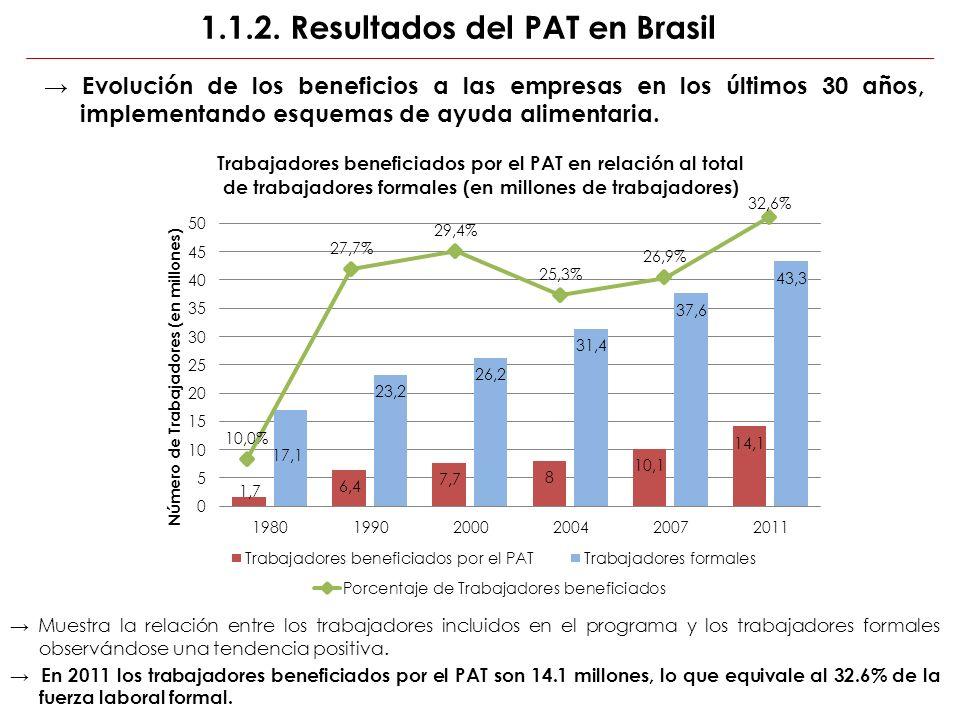 1.1.2. Resultados del PAT en Brasil