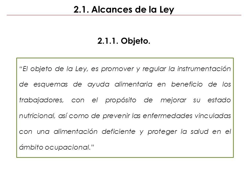 2.1. Alcances de la Ley 2.1.1. Objeto.