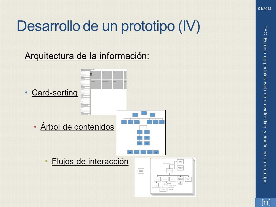 Desarrollo de un prototipo (IV)