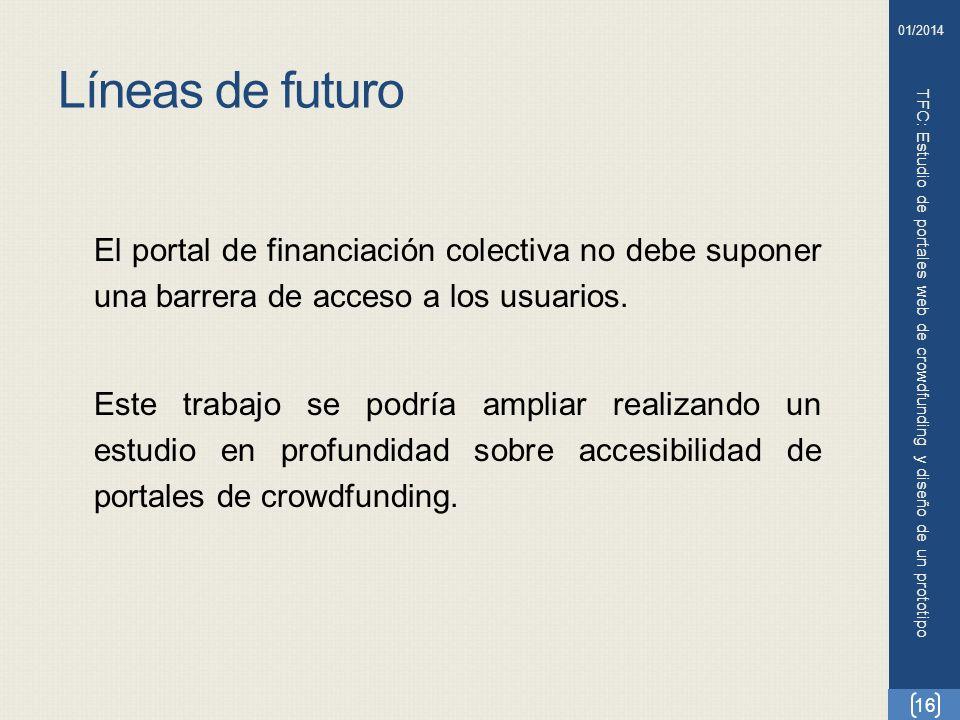 TFC: Estudio de portales web de crowdfunding y diseño de un prototipo