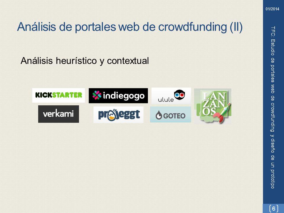 Análisis de portales web de crowdfunding (II)