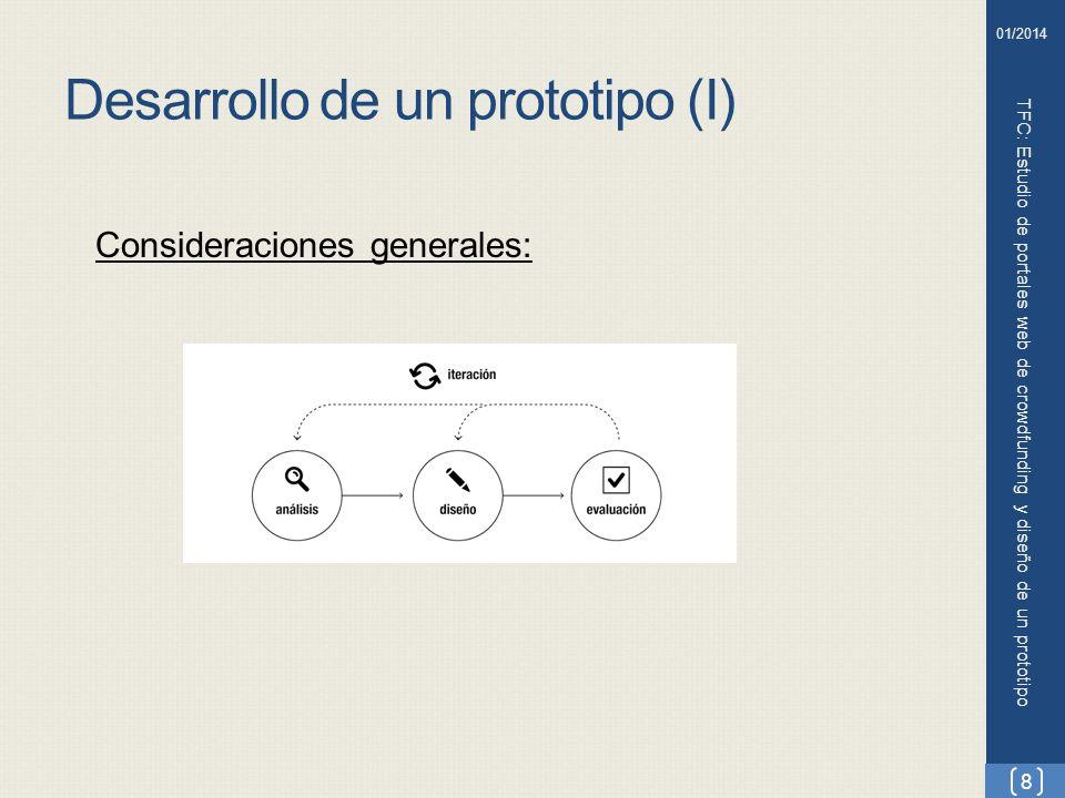 Desarrollo de un prototipo (I)