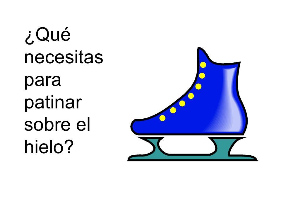 ¿Qué necesitas para patinar sobre el hielo