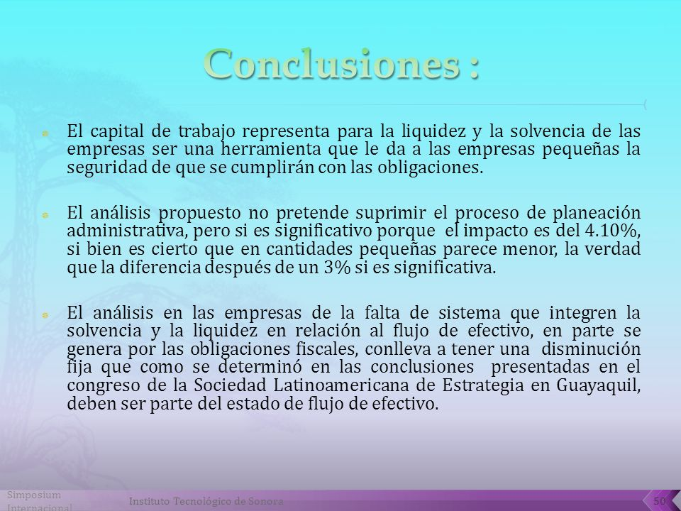Conclusiones :