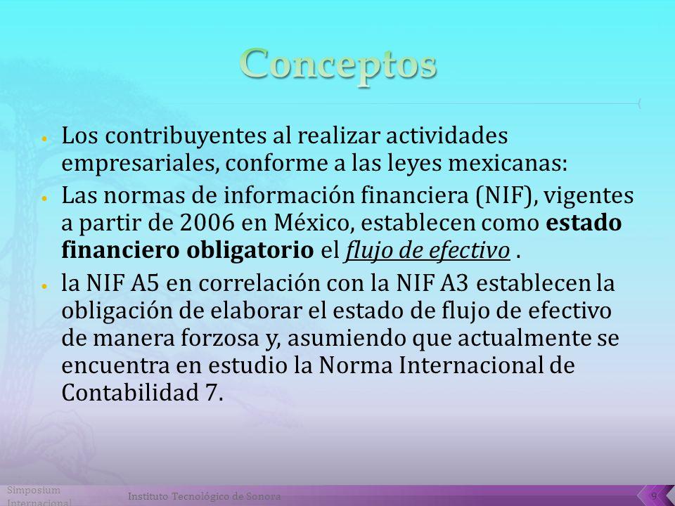 Conceptos Los contribuyentes al realizar actividades empresariales, conforme a las leyes mexicanas: