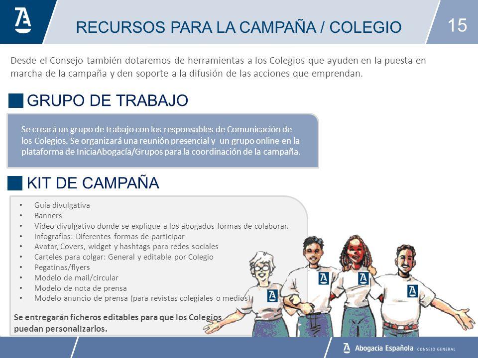 RECURSOS PARA LA CAMPAÑA / COLEGIO