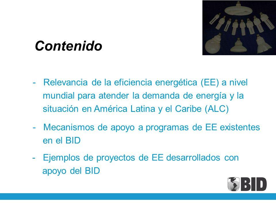 Contenido Relevancia de la eficiencia energética (EE) a nivel