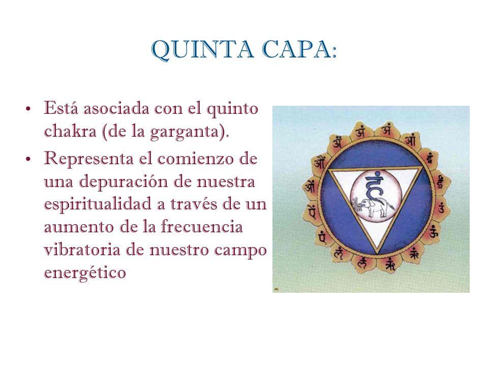 QUINTA CAPA: Está asociada con el quinto chakra (de la garganta).