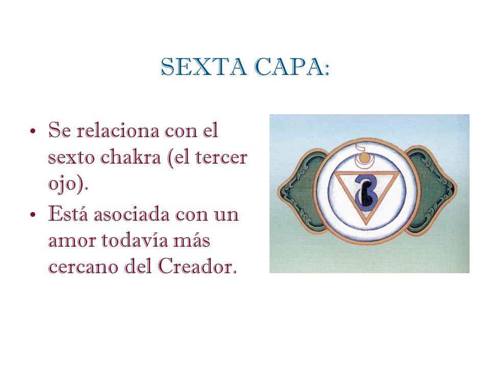 SEXTA CAPA: Se relaciona con el sexto chakra (el tercer ojo).