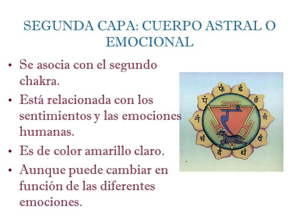 SEGUNDA CAPA: CUERPO ASTRAL O EMOCIONAL
