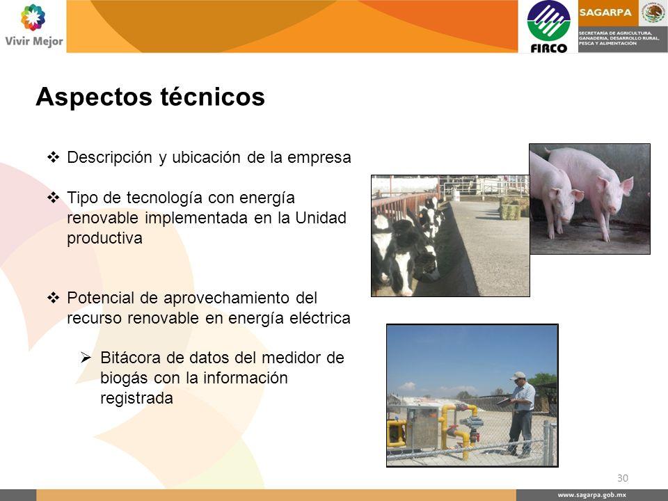 Aspectos técnicos Descripción y ubicación de la empresa
