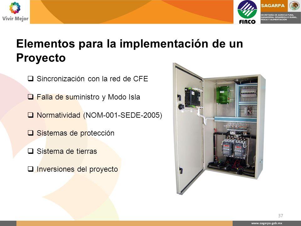 Elementos para la implementación de un Proyecto