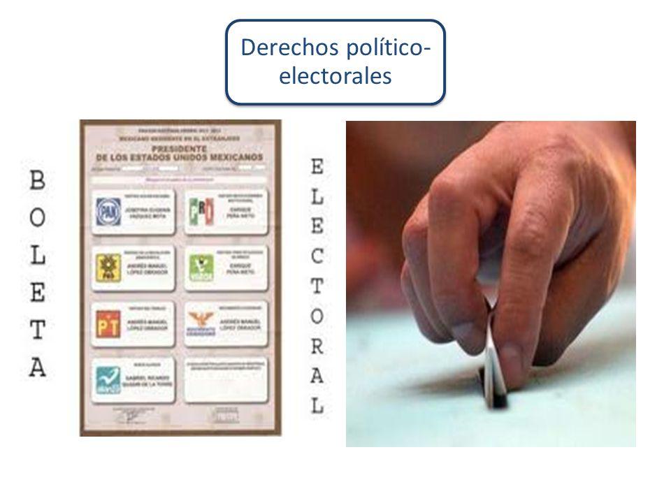 Derechos político-electorales
