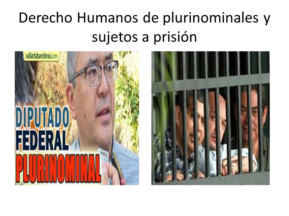 Derecho Humanos de plurinominales y sujetos a prisión