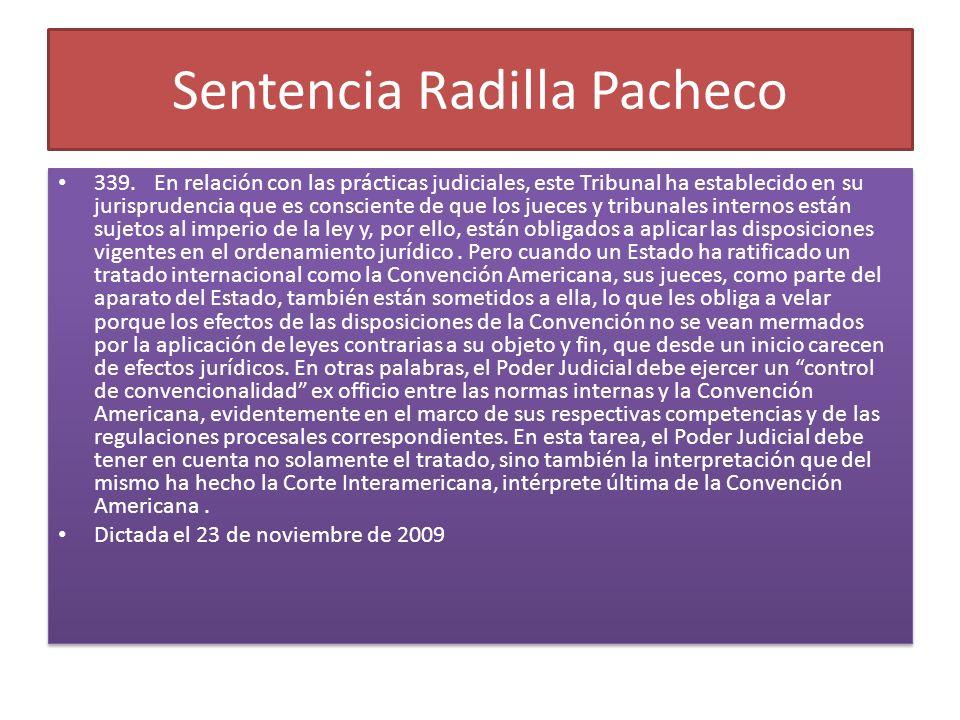 Sentencia Radilla Pacheco