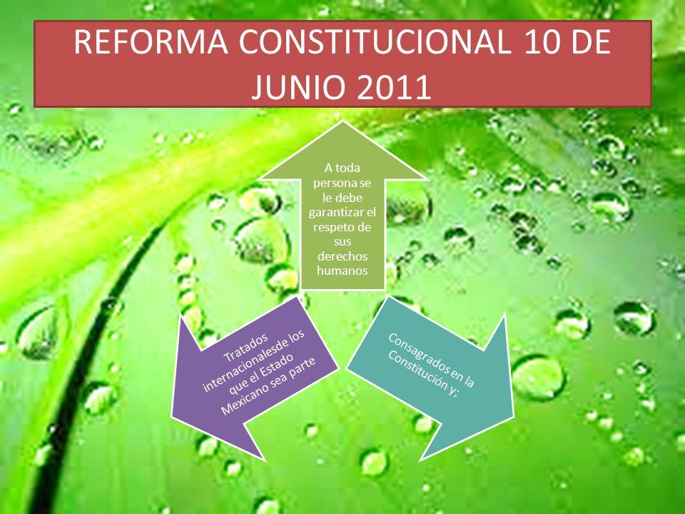REFORMA CONSTITUCIONAL 10 DE JUNIO 2011