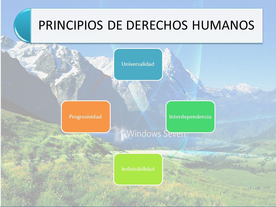 PRINCIPIOS DE DERECHOS HUMANOS