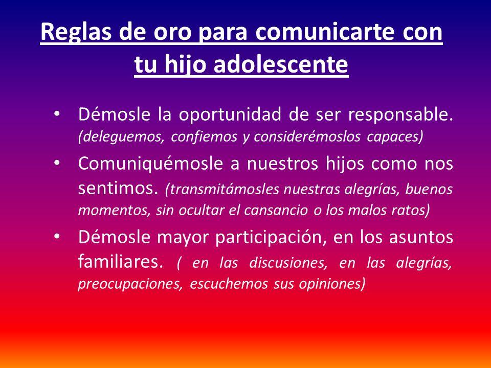 Reglas de oro para comunicarte con tu hijo adolescente