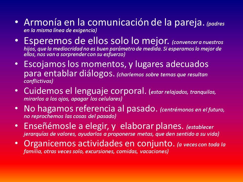 Armonía en la comunicación de la pareja