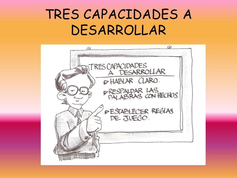TRES CAPACIDADES A DESARROLLAR