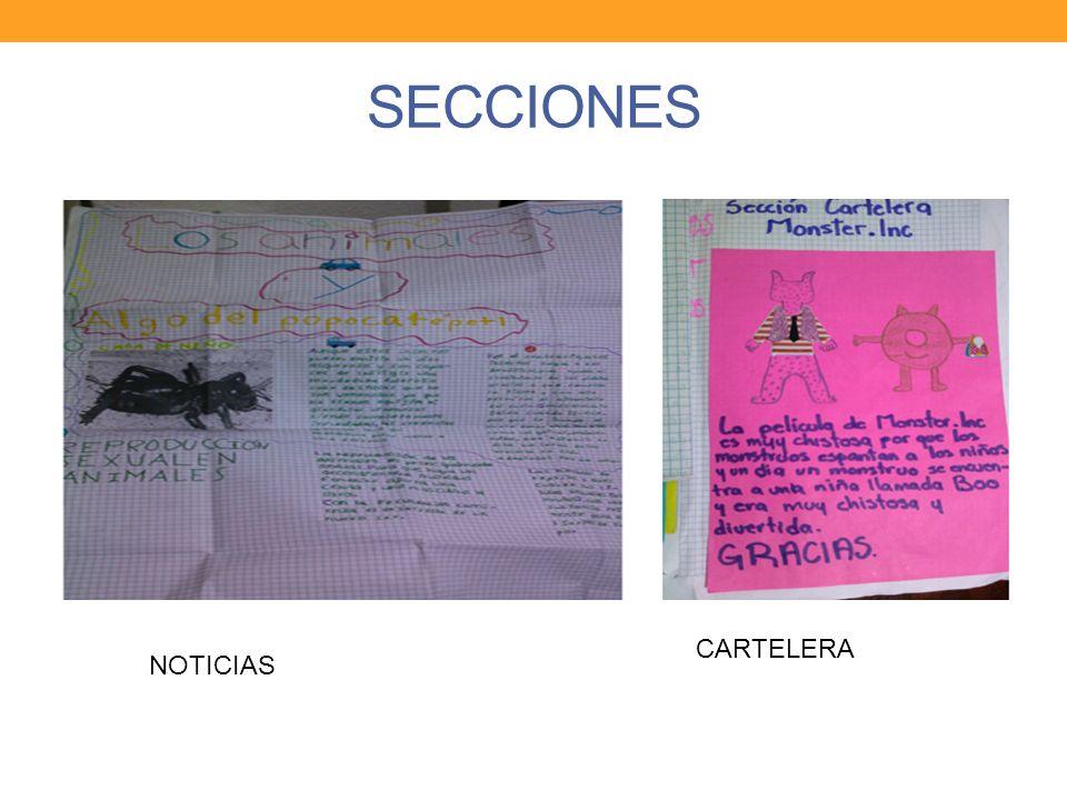 SECCIONES CARTELERA NOTICIAS