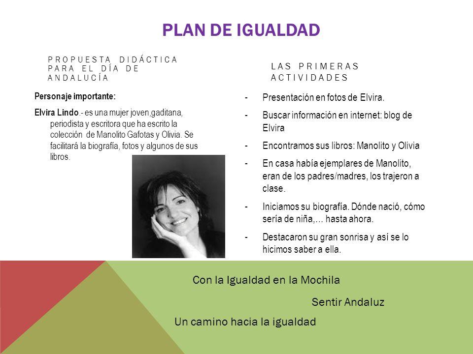 plan de igualdad Con la Igualdad en la Mochila Sentir Andaluz