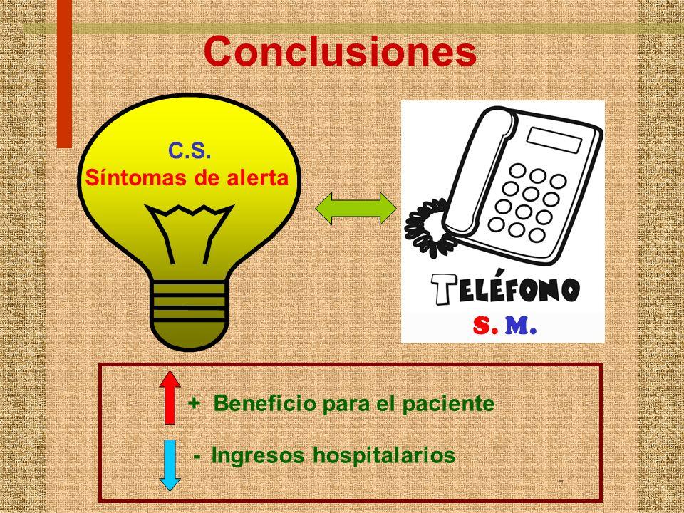 Conclusiones S. M. C.S. Síntomas de alerta