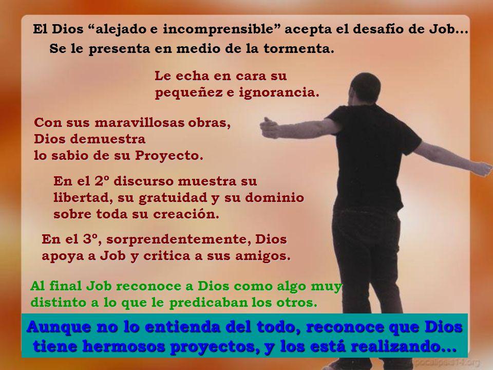 El Dios alejado e incomprensible acepta el desafío de Job…