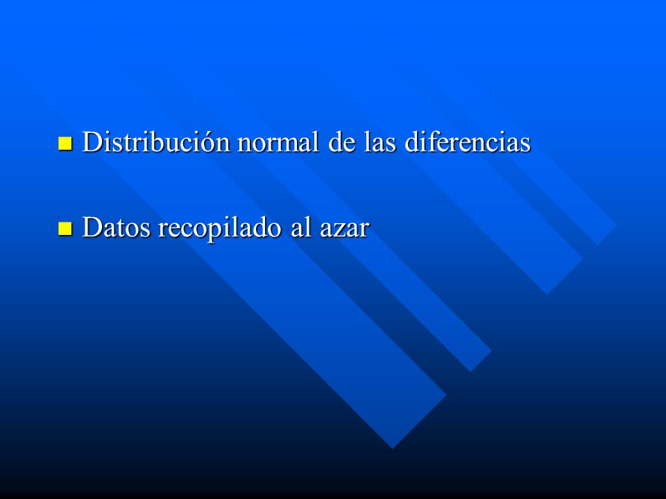 Distribución normal de las diferencias
