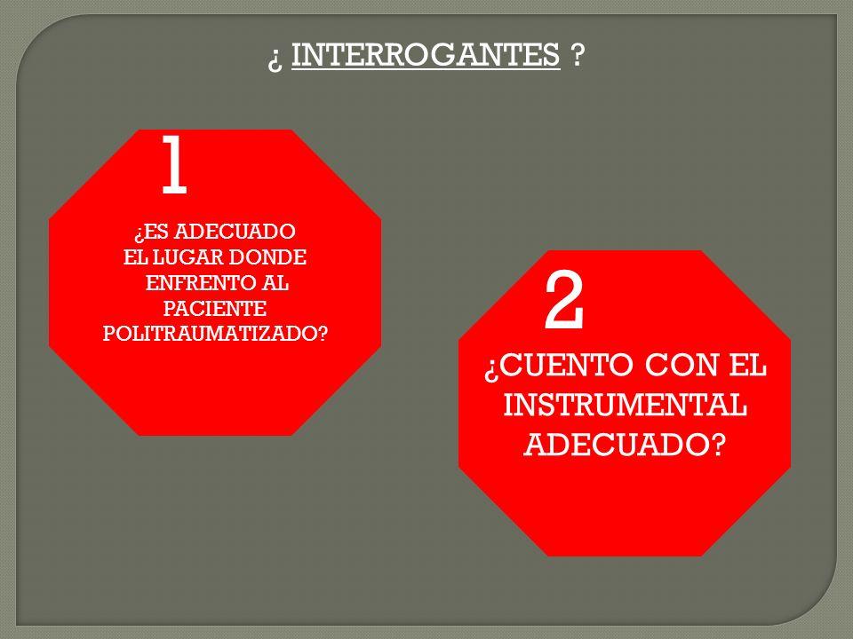 1 2 ¿ INTERROGANTES ¿CUENTO CON EL INSTRUMENTAL ADECUADO